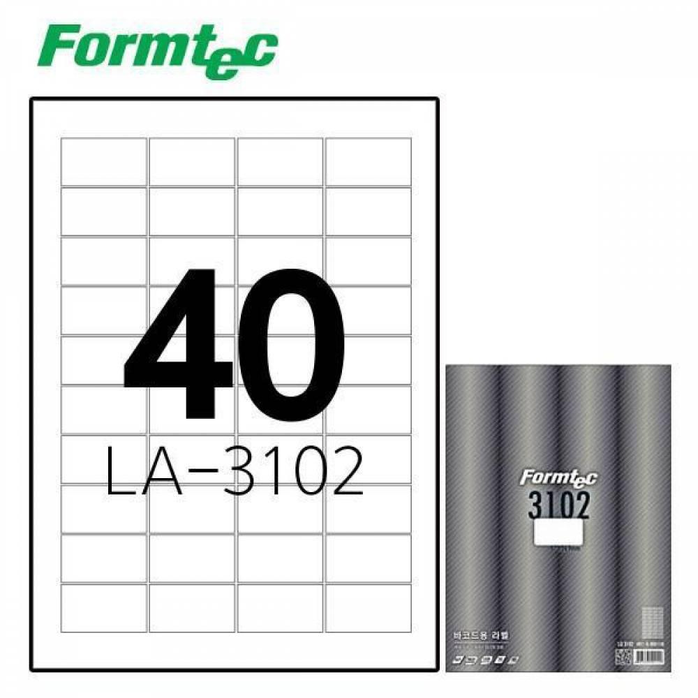 폼텍 LA-3102 20매 레이저 광택 라벨 방수/정리/견출지/스티커/라벨