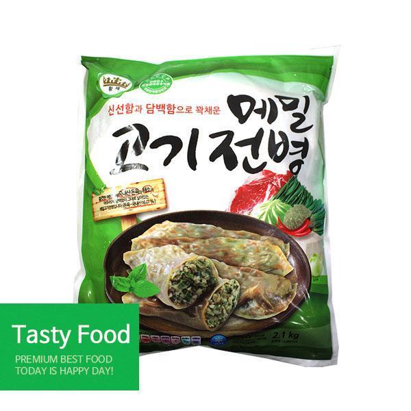(냉동)준푸드식품 메밀고기전병2.1kgX4개