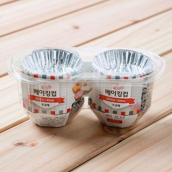 200p 은박 베이킹컵 40mm 반찬그릇 은박접시 머핀컵