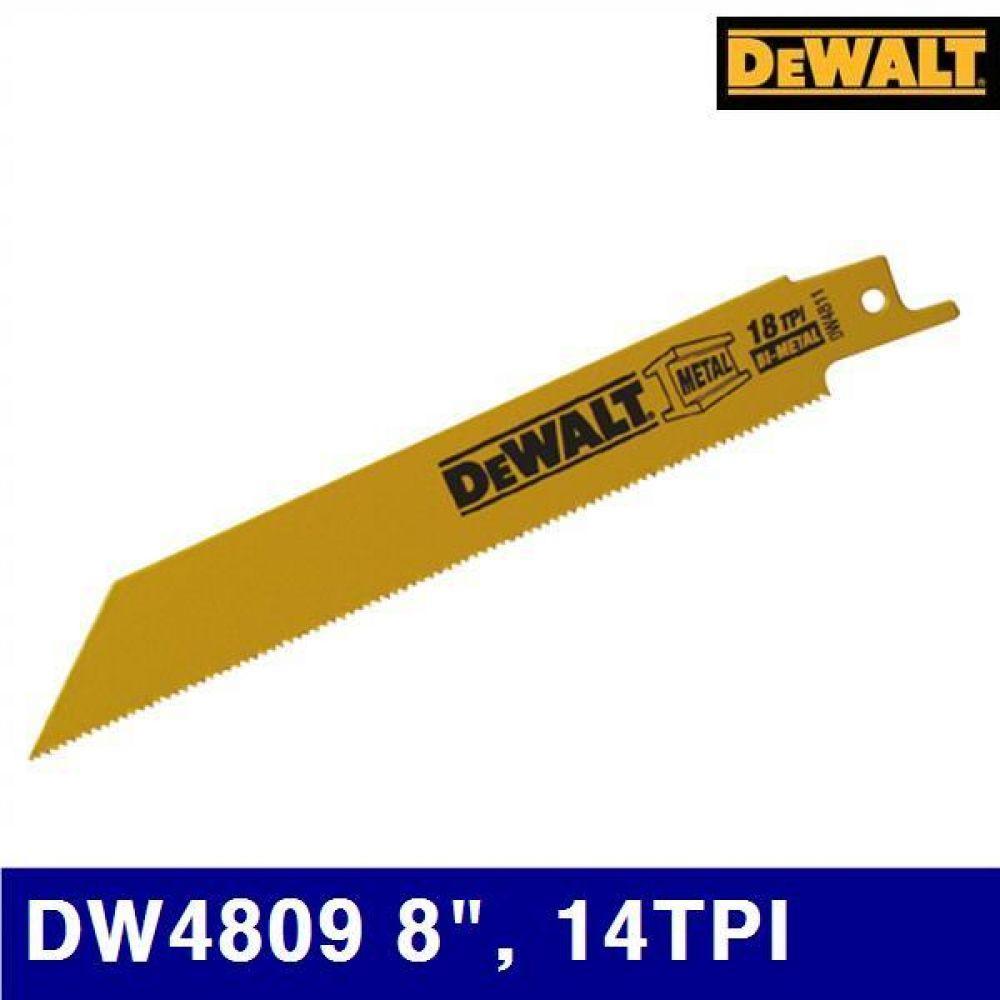 디월트 5090460 철재용 컷쏘날 DW4809 8Inch  14TPI 철재용 (통(5EA))