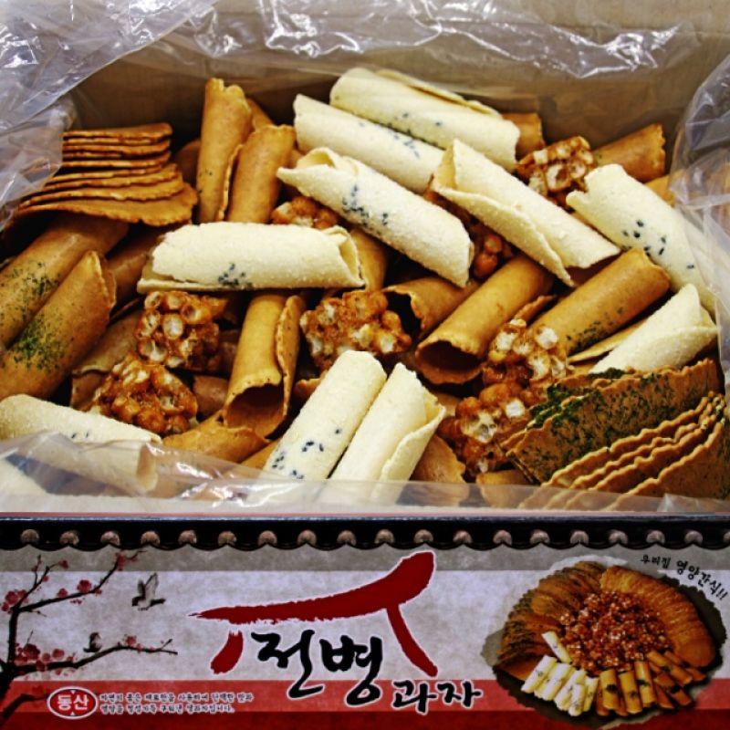 센베과자 삼베과자 전통과자 종합전병 5종 선물세트 750g 2박스