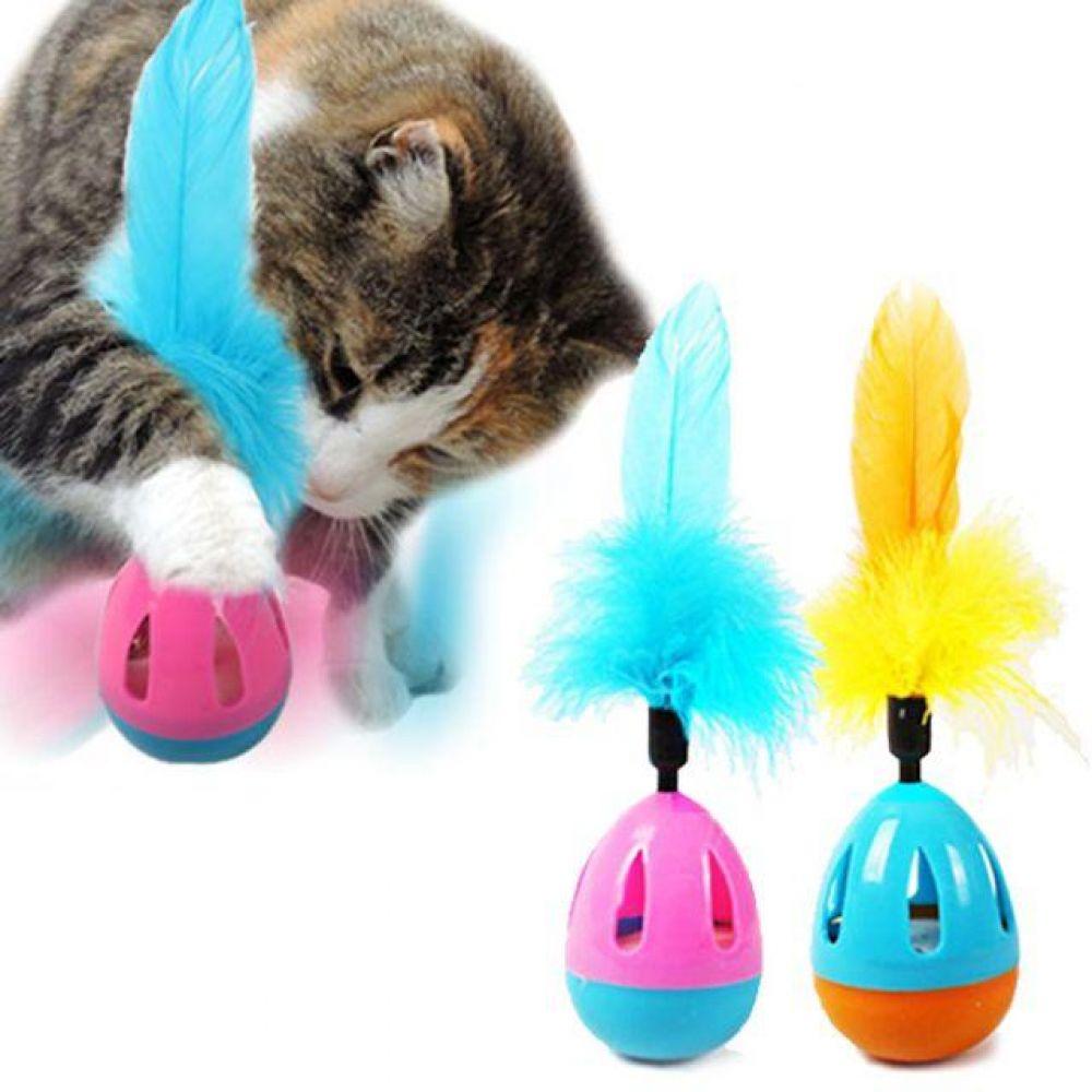 티티펫 캣텀블러 오뚜기 고양이 장난감 캣 방울 토이