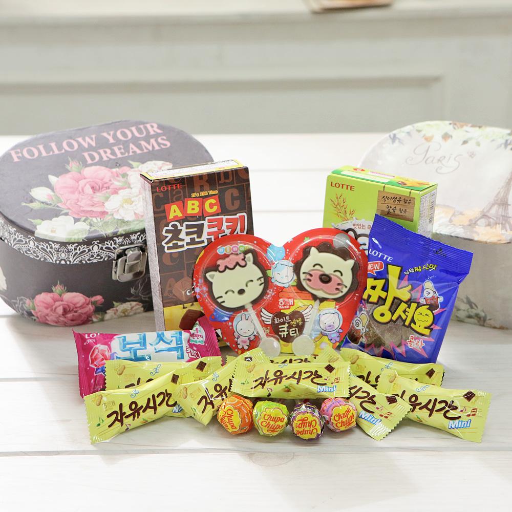 시크릿타원형박스(중) 화이트데이 발렌타인데이 사탕