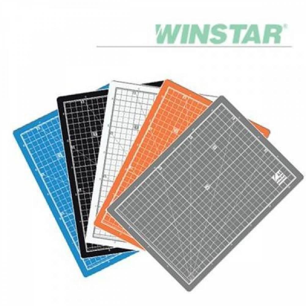 윈스타 PVC 칼라 450X300 A3 데스크 커팅 매트 데스크매트/책상패드
