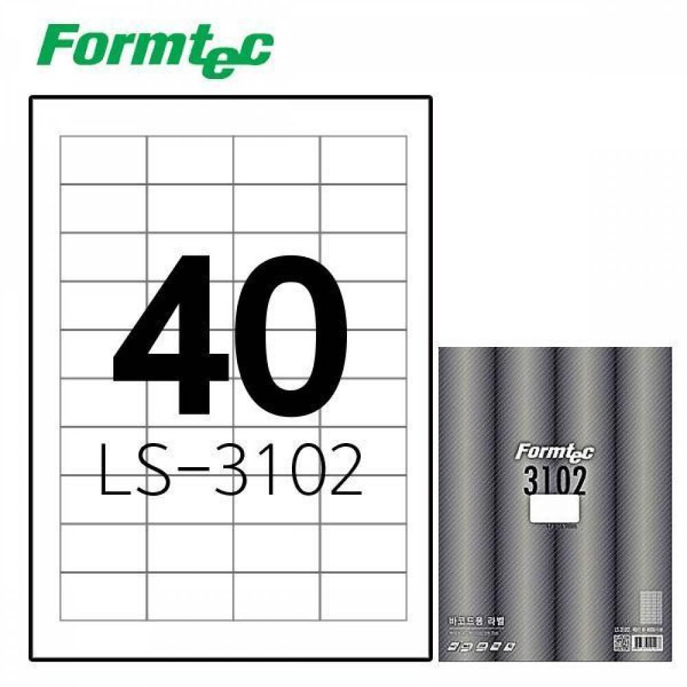 폼텍 LS-3102 100매 레이저잉크젯 라벨 방수/정리/견출지/스티커/라벨