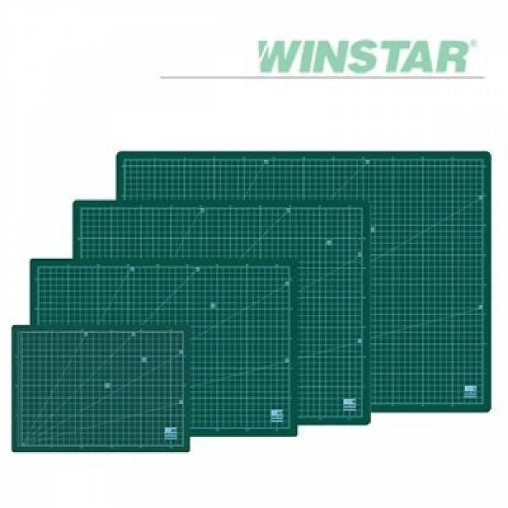윈스타 녹색 300X215 A4 데스크 고무매트 데스크매트/책상패드