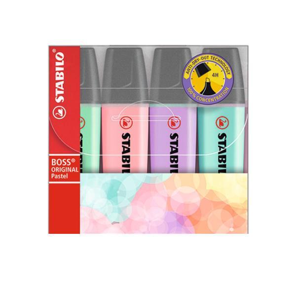 스타빌로 보스 파스텔 하이라이터 4색세트 형광펜 필기구/문구/컬러펜/펜