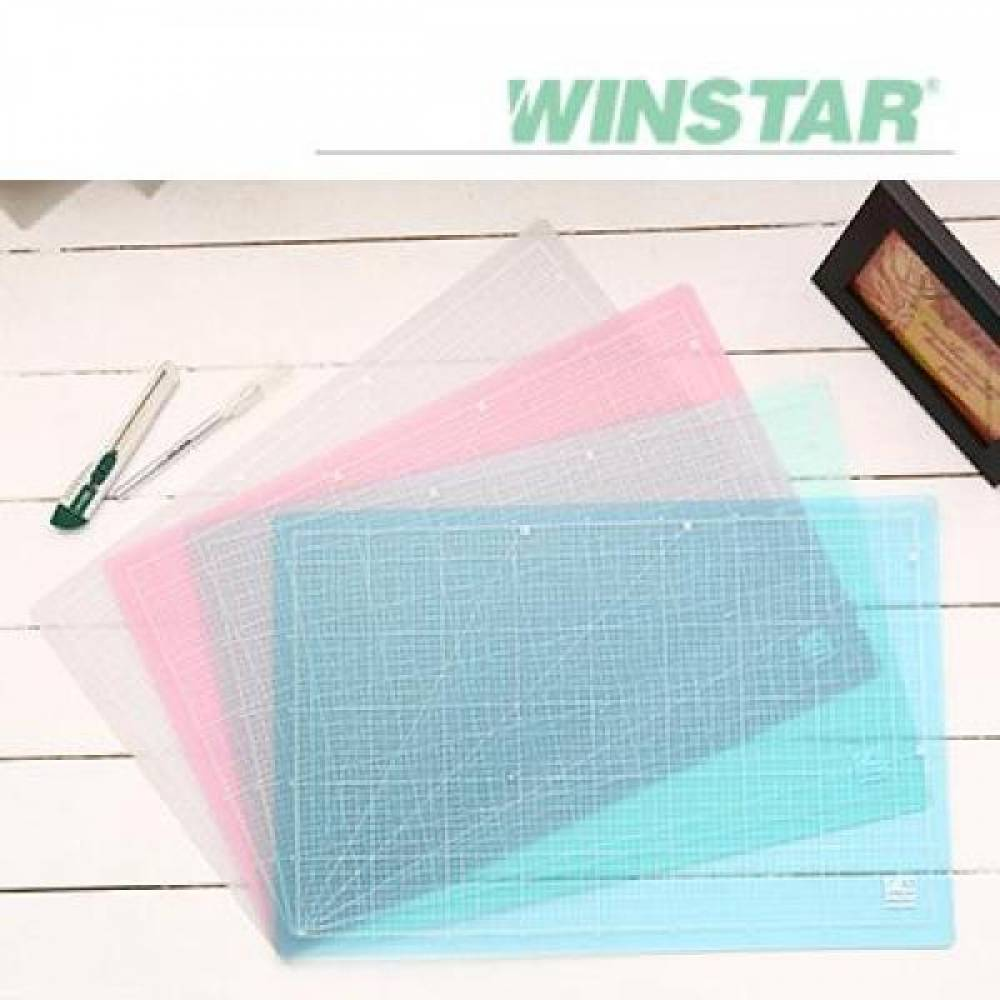 윈스타 PVC 반투명 305X100 데스크 커팅 매트 (소) 데스크매트/책상패드